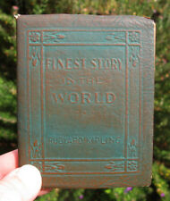 LITTLE LEATHER LIBRARY Finest Story in the World KIPLING Vintage Book Literature
