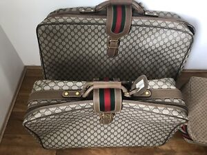 Gucci Vintage Luggage 80s Leather 2 X Travel Bag NEW WITH TAG  Choose Which One