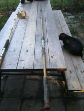 "Antique Deep Sea 86"", Wooden Handle, Fishing Rod"