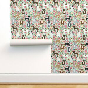 Peel-and-Stick Removable Wallpaper Floral, Pitbull Terriers, Cute, Dogs, Dog,