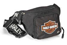Harley-Davidson® Bar & Shield Logo Black Adjustable Belt Bag Fanny-pack 99426