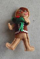 "Vintage 1982 Annalee Gingerbread Boy Doll 5 1/4"" Tall"