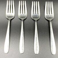 Vintage Wallace Bright Star Flatware 4 Salad Forks Atomic Starburst Stainless UT