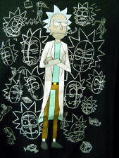 Rick and Morty Large Tee Shirt Blue Hair Scientist Cartoon Network Adult Swim