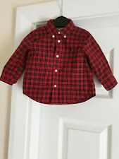 "Shirt ""Ralph Lauren"" Red Mix Color Size: 6 Month  Used"