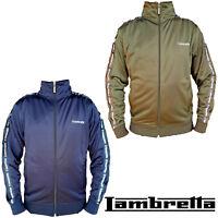 Lambretta Mens Jacket Track Top Retro Harrington MOD Zip Lightweight UK S-4XL
