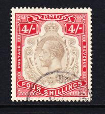 BERMUDA 1918-22 4/- BLACK & CARMINE SG 52b FINE USED.