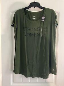 Lularoe 1X dark green new Rise Tenacious workout top