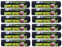 12 X Tidyz XXX Large Strong Doggy Waste Poo Bags With Tie Handle - 50 Bags