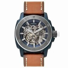 Fossil Original ME3135 Men's Modern Sport Machine Brown Leather Watch 45mm Autom