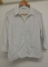 BHS White Blouse Size 18 Stripy <J5179