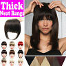 US Women Clip In Bangs Fringe Fake Hair Extension Straight Front Neat Hair Bangs