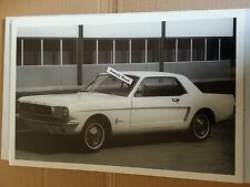 """12 By 18"""" Black & White PICTURE 1966 Mustang Square Back"""