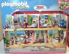 Playmobil 5265 Summer Fun Large Furnished Hotel Rare NEW