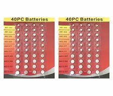 2x Assorted Batteries, Super Alkaline (40pc) Set, Watch, Calculators, Cameras