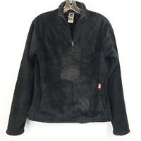The North Face Womens Medium Mossbud 1/4 Zip Pullover Jacket Black Fleece