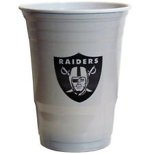 18 Oakland Raiders Plastic Tailgate Party Cups 18oz NFL Football Licensed