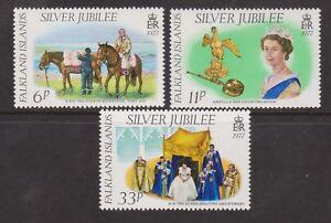 QEII 1977 Silver Jubilee MNH Stamp Set Falkland Islands SG 325-327