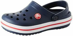 Crocs Kid's Crocband Clog | Slip On Water Shoe for Toddlers,, Navy/Red, Size 6.0