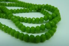 120 pce Earthy Green Faceted Abacus Glass Beads 4mm x 3mm
