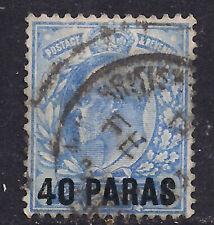 British Levant 1902 - 05 KEV11 40 Paras OVPT on 2 1/2d  stamp.- B772