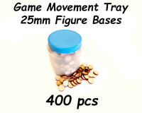 Game Movement Tray 25mm Bases for Warhammer 40k Age of Sigmar Trays 400pcs