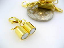 gold Magnetic Cylindrical Clasps with hook Jewellery Making Magnetic cord end