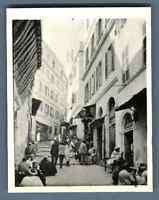 Algérie, Alger (الجزائر), Scène de rue  Vintage silver print.  Tirage argentiq