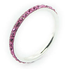 Silver Czech Crystal Ring Sterling Silver 925 Best Deal Jewelry Pink Size 8