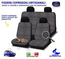 Coprisedili Fodere per Panda 169 Fiat 2003>2011 Fodera cotone grigio set auto in