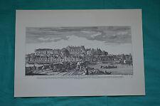 """Reproduction de gravure ancienne """"Vue du Chateau Royal d'Amboise"""""""