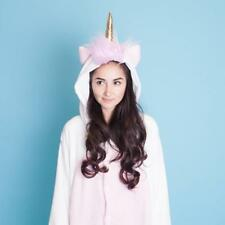 Unicorn Magicorn Hooded Soft Plush Jump Suit One Piece Sleepwear Pyjamas - UK