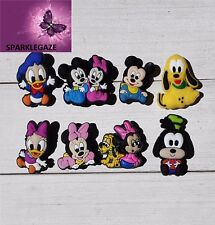 BRAND NEW 2017 8 X DISNEY MICKEY N FRIENDS SHOE CHARMS CAKE TOPPER PARTY AUS 177