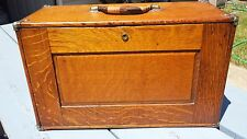 Beautiful Old Unique Wood Dovetail Engineer's Case Machinist Cabinet w/ Drawers