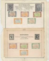montenegro stamps page ref 18357