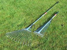 Telescopic expanding rake grass lawn leaves garden moss soil leaf scurifier