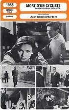 FICHE CINEMA : MORT D'UN CYCLISTE - Bosé,Closas,Bardem 1955 Death of a Cyclist