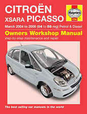 Haynes Workshop Manual 4784 for CITROEN XSARA Picasso 2004 to 2008