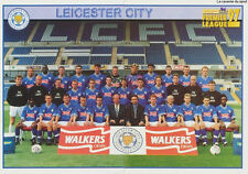 N°213 - 214 LEICESTER CITY.FC TEAM Premier League 1997 MERLIN STICKER VIGNETTE