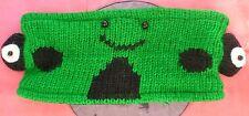FROG Animal Headband 100% Wool Hand Crocheted Fleece Lining Toddler Size