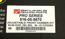 SKUNK2 Front Camber Kit Civic 92-95 94-01 Integra 93-97 Del Sol  516-05-5670