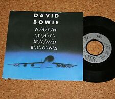 Single David Bowie when the wind blows SILVER LABEL German Top Condizione Virgin