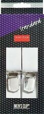 PRYM Tirantes de pantalones Estándar blanco liso XL 30 mm/125 cm Goldzack 944010