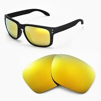 New Walleva Polarized 24K Gold Replacement Lenses For Oakley Holbrook Sunglasses