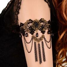 1x Women Gothic Lace Brozen Upper Arm Cuff Armlet Bracelet Tassel Chain
