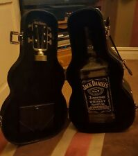 Jack daniels Guitar case 70cl with empty bottle collectors item limited edition