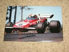 MARIO ANDRETTI SIGNED INDY CAR DRIVER 8x12 PHOTO coa indy 500 winner 3