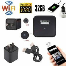 32GB WiFi HD 1080P SPY Camera Hidden USB Adapter Wall Charger Motion Detection
