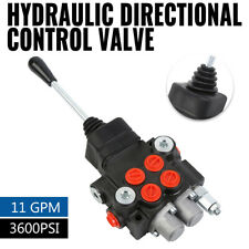 11 Gpm 2 Spool Hydraulic Directional Control Valve Tractor Loader With Joystick