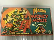 More details for mazda: mickey mouse vintage 12 xmas tree lights bth co ltd 1930s untested